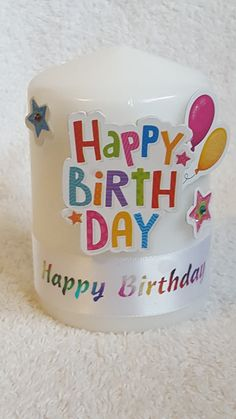 Happy Birthday candle from welshwaxesandcrafts.co.uk