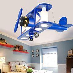 Children's Chandeliers - Schlafzimmer Airplane Lights, Airplane Decor, Ceiling Design, Lamp Design, Home Deco, Kids Ceiling Lights, Kids Furniture, Furniture Design, Wooden Desk Lamp
