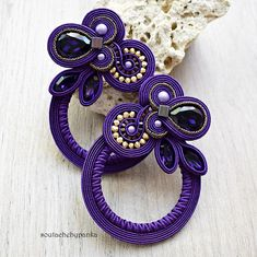 Hey, I found this really awesome Etsy listing at https://www.etsy.com/listing/598046076/purple-soutache-earrings-with-beautiful