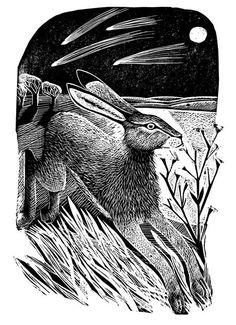 Hare and Moon - Angela Harding http://www.twenty-twenty.co.uk/prints/artists-prints/hare-and-moon/prod_1071.html