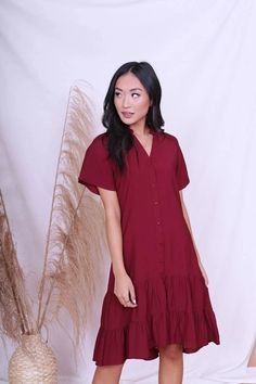 Modest Clothing, Burgundy Dress, Modest clothes