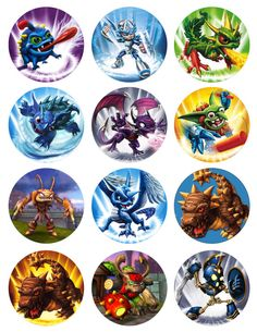 Image detail for -SKYLANDERS Printable Birthday Party Cupcake Toppers Favor Tags (GC ...