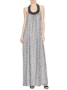 Willemma Silk Embellished Maxi Dress