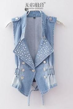 b5f92ea7558977 Chalecos on AliExpress.com from  16.89 Sleeveless Cardigan, Summer Denim,  Bolero, Embroidered