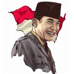 Soekarno on Behance Indonesian Art, Avatar, Vector Portrait, Airbrush Art, Portrait Illustration, Animated Cartoons, Galaxy Wallpaper, Graphic, Illustrations