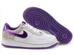 reputable site 7d09d 49727 Chaussures Nike Air Force One Blanc Gris Violet nike10505 - €58.93