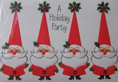 Vintage Santa Hallmark Invitations.