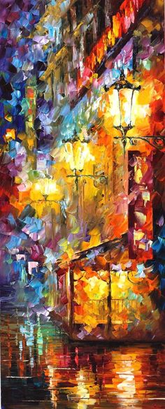 CITY VIBES 3 - Original Oil Painting On Canvas By Leonid Afremov http://afremov.com/CITY-VIBES-3-Original-Oil-Painting-On.html?bid=1&partner=20921&utm_medium=/vpin&utm_campaign=v-ADD-YOUR&utm_source=s-vpin