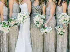 Gotta love those sparkly bridesmaid dresses! An Everlasting Moment, San Francisco Bay Area Wedding Planner.