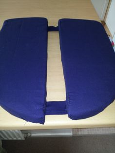 My Pudendal Neuralgia Cushion which I made to help me sit when I go out.