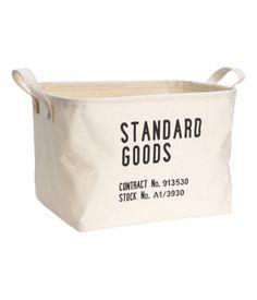 Storage Basket   Natural white   Home   H&M US