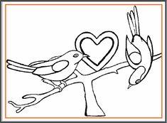 Desene de colorat de Ziua Indragostitilor