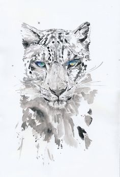 Watercolour Leopard; Beautiful. iPhone Wallpaper.