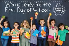 Lovable Labels First Day of School Contest! Enter to win 1 of 10 Back to School Packs from Back To School Images, First Day Of School Pictures, School Pack, School Memories, One Day, Children, Kids, How To Memorize Things, Giveaways