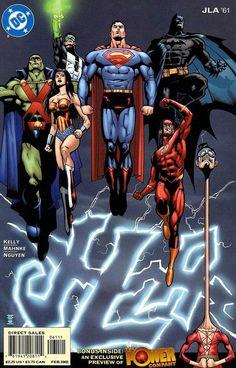 Superman & Justice League of America Arte Dc Comics, Dc Comics Superheroes, Avengers Comics, Justice League Dark, Justice League Unlimited, Comic Books Art, Comic Art, Book Art, Univers Dc