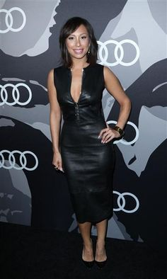 Cheryl Burke arrives at the Audi celebrates Golden Globes Week party in Los Angeles on Jan. 8, 2015.