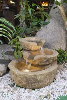 Alfresco Home ValGardena Decorative Outdoor Fountain with Pump and Light #modernaccentfurniture