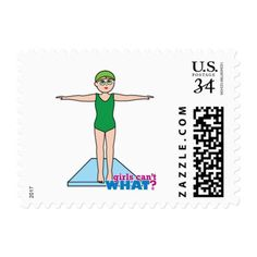 Girl Diver Postage