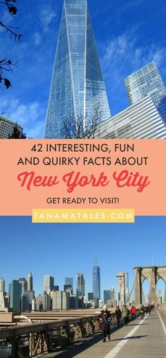Things to do in New Yok City – Travel Tips and Ideas – Before deciding on must-sees, restaurants, shopping sprees and skyline views, here are 42 interesting, fun and quirky facts about New York City.  These bits of knowledge will get you excited about visiting the city. #NYC #NewYork #Manhattan