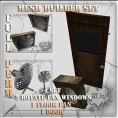 Mesh builder fan and door  4 set Full perm