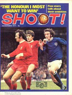 magazine I Nov 1971 featuring Leicester City v Liverpool on the cover. Football Memorabilia, Football Stadiums, Football Team, Liverpool Fans, Liverpool Football Club, Emlyn Hughes, Bob Paisley, Magazine Front Cover, Goodison Park