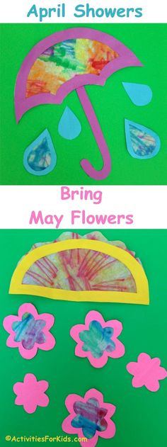 April Showers Bring May Flowers craft from  ActivitiesForKids.com