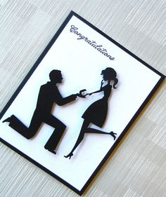 Engagement Card  Wedding Card  Bridal Shower Card  by KeyLimeCards, $3.99