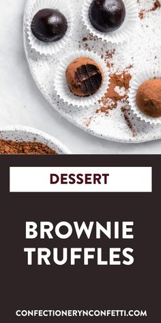 Find out the unique ingredient that puts these delicious brownie truffles over the top. If you are looking for a delicious few ingredient dairy free dessert then these brownie truffles are perfect for you! #dessert #brownies #recipe