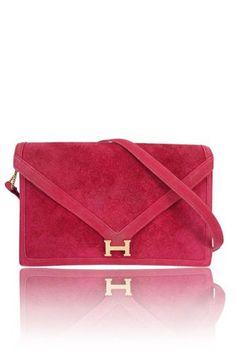 Hermès Doblis Lydie Rouge 2-way flap bag