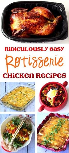 Ridiculously Easy Rotisserie Chicken Recipes! These delicious dinner ideas are the perfect solution for those busy weeknights! Get recipes at TheFrugalGirls.com