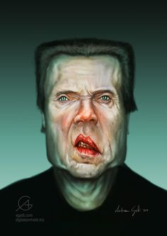 Christopher Walken [by http://www.agatti.com] #Caricature #FunnyFaces
