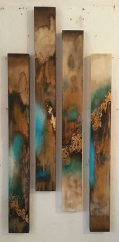 SB330 Sam Brown | Abstract panels x 4, mixed media, price on… | onthewallgallery | Flickr