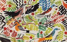 Collier Campbell - Egyptian Birds fabric