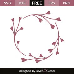 *** FREE SVG CUT FILE for Cricut, Silhouette and more *** Heart branch