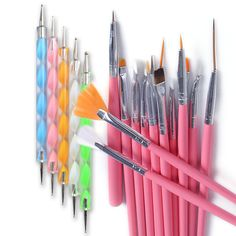 20PCS Womens Nail Art Design Dotting Painting Drawing Polish Brush Pen Tools Set #artlalic
