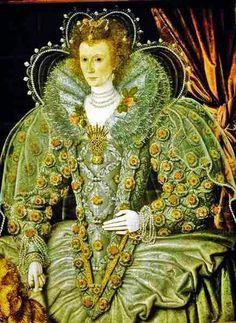 17th-century American Women: The Virgin Queen (Virginia) - Elizabeth I A public relations Goddess - with Ruff