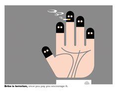 Bribe is terrorism Verona, Billboard, Encouragement, Peace, Logos, Art, Art Background, Poster Wall, Logo