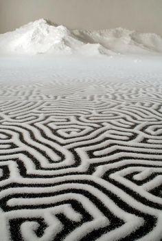 Salt sculptures from Japanese artist Motoi Yamamoto