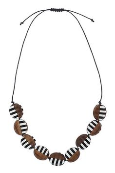 Jakso Necklace Black/White
