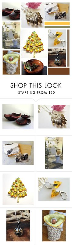 """""""Pear Tree"""" by inspiredbyten ❤ liked on Polyvore featuring Rustico, Christopher Radko, Myrtlewood and vintage"""