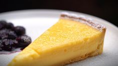 My Kitchen Rules Recipe - Henry & Anna's Lemon Tart with Blueberry Compote Citrus Recipes, Sweet Recipes, Real Food Recipes, Dessert Recipes, Cooking Recipes, Desserts, Yummy Food, Healthy Recipes, Sweet Pie