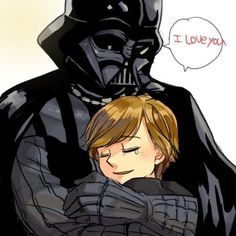 Luke looks so happy with his father!!!! And so cute too!!!:
