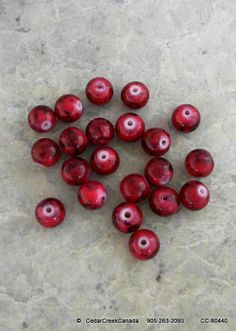 Red 10mm Mottled Glass Beads              CC-80440