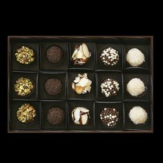 Brigadeiro Gift Box | from $18-$45 (depending on size) Made from a mixture of chocolate, condensed milk and butter, a Brigadeiro is slowly cooked until it gets just the right consistency. Available at: manykitchens.com