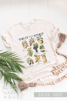 Fruit of the Spirit Christian Shirts & Gifts for Women | Etsy #faith #christiantees #christiantshirts #shereadstruth #graphictee #tshirtsforwomen