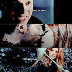 ❤❤❤❤❤ If you touch him Clary will kill you. Shadowhunters Clary And Jace, Clary Et Jace, Shadowhunters Series, Mortal Instruments Runes, Shadowhunters The Mortal Instruments, Clace Fanart, Shannara Chronicles, Cassie Clare, Fandom Memes