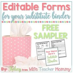 Special Education Sub Plans Bundle SPED Resource Teachers Distance Learning Worksheets Sub Binder, Substitute Binder, Substitute Teacher, Special Ed Teacher, Sub Plans, Word Board, Teacher Resources, Teaching Ideas, Classroom Resources