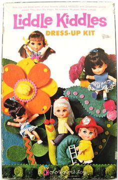 Vintage Liddle Kiddles Dress-Up Kit, Colorforms Toy, 1968