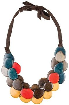 Tagua Chip Bib Necklace | The J. Peterman Company