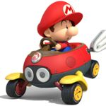 View an image titled 'Baby Mario Art' in our Mario Kart 8 art gallery featuring official character designs, concept art, and promo pictures. Mario Kart 8, Mario Bros., Mario And Luigi, Mini Mario, Mario Toys, Mundo Super Mario, Super Mario World, Super Mario Brothers, Super Mario Bros